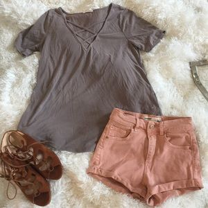 Flowy Gray Top